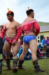 Les lutteurs mongols se préparent