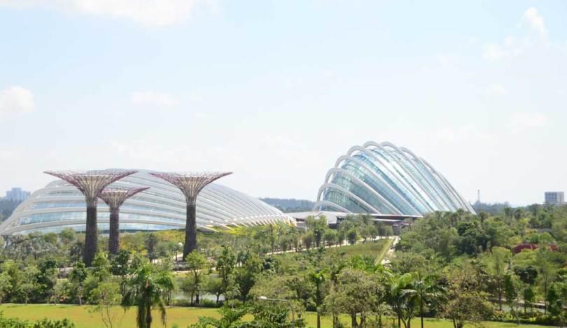 Arbres géants et Domes, Gardens by the Bay, Singapour