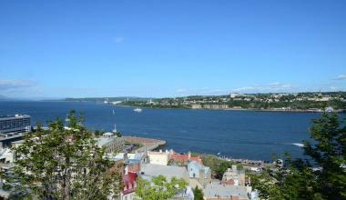 Vue sur le Saint Laurent depuis la vieille ville