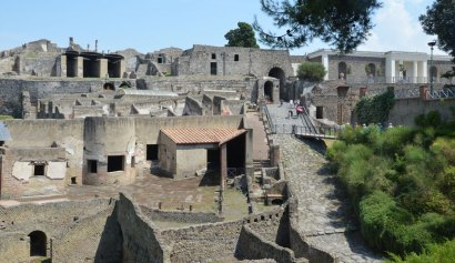 Entrée dans la ville de Pompéi, Italie