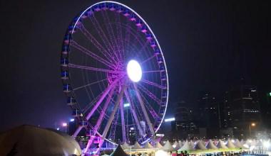 Roue de Hong Kong Island aux couleurs du Wine & Dine Festival