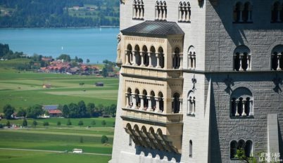 Fenêtres et balcon de Neuschwanstein