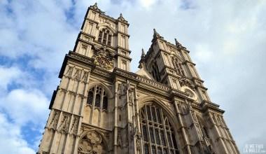Façade de l'abbaye de Westminster