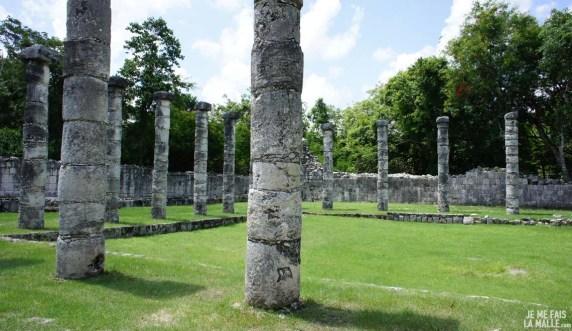 Colonnades de Chichen Itza
