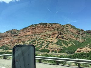 Utah- the view from a big truck