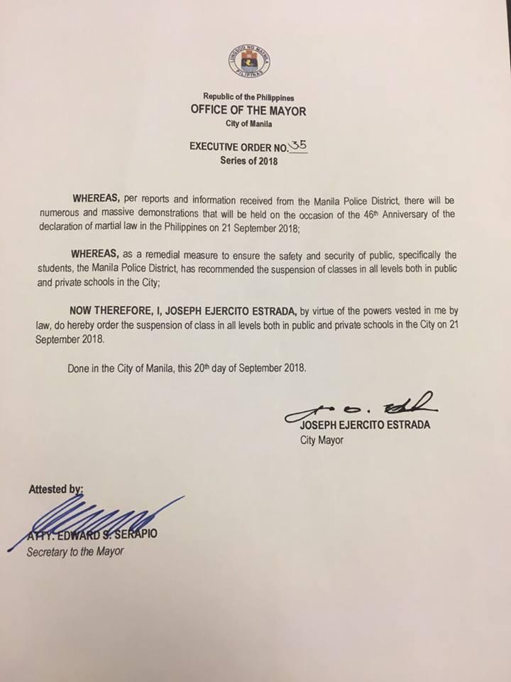 #WalangPasok_Manila_sep 21_ 2018