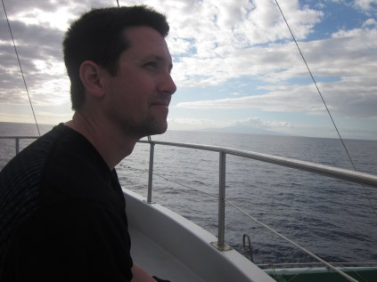 Ross on the boat