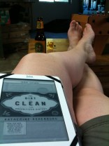 Good book, cold beer, cold basement