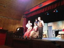 """the cast of the """"Pathway to Gold: in Search of the Motherlode"""", a musical very well done at the Theatre Royal"""