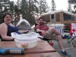 Kevin and Kathleen chilling when the sun finally went down