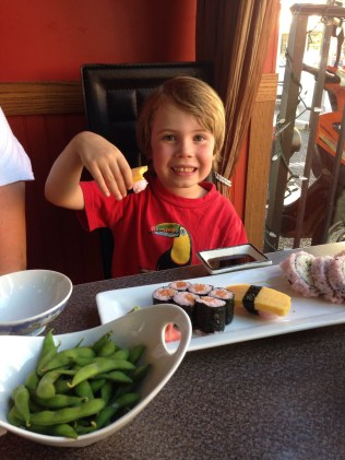 6th birthday sushi dinner
