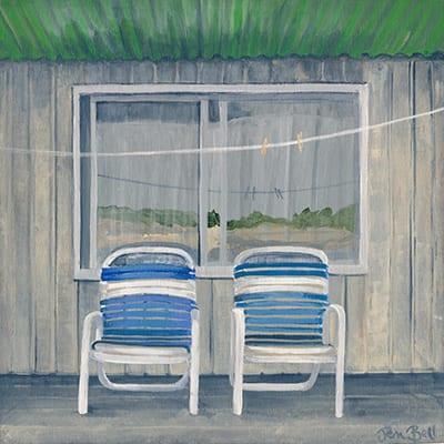 Artist Jen Bell's Cape Cod Beach Porch Chairs