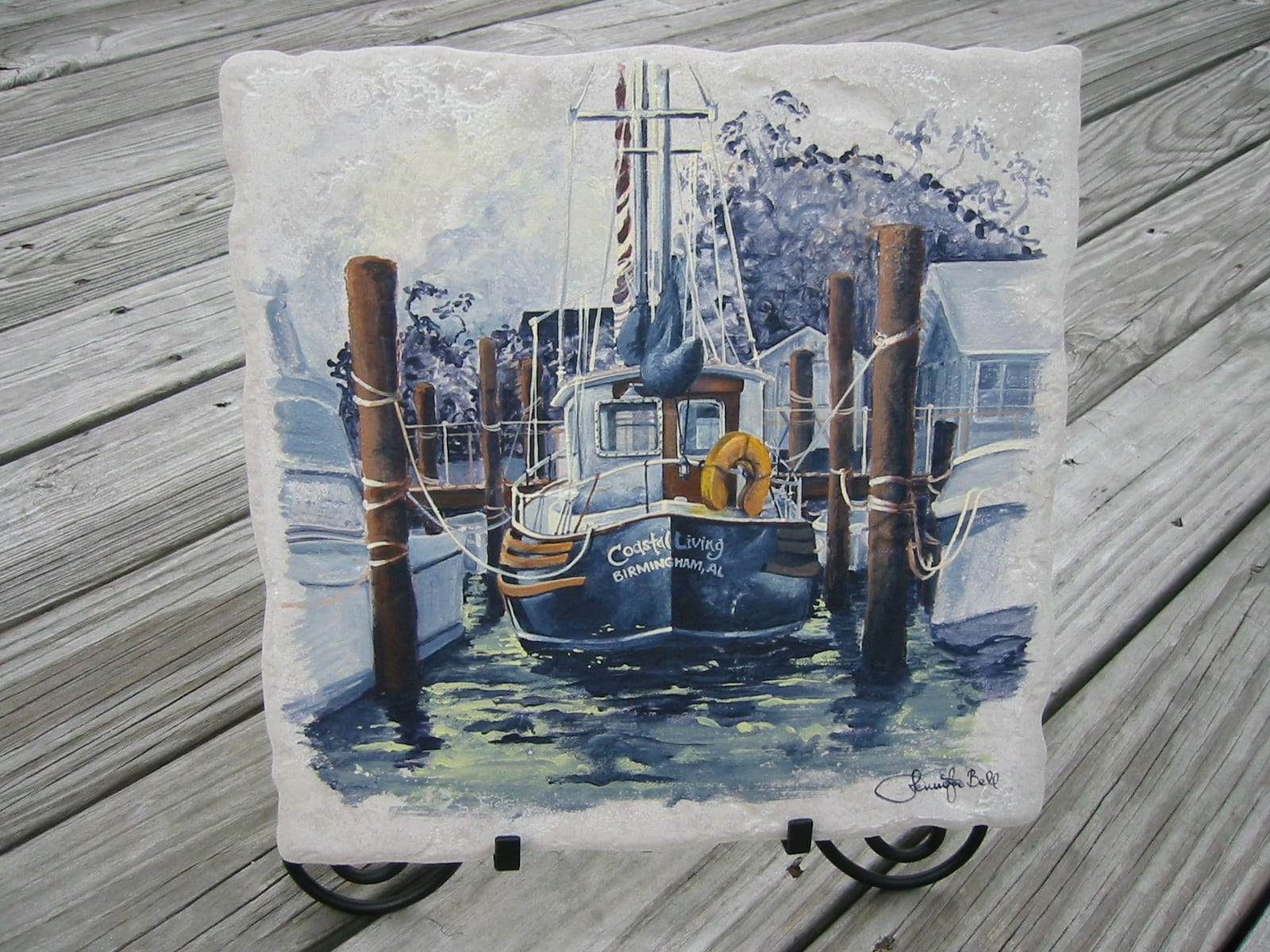 Artist Jen Bell's Sailboat Commission