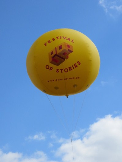 One of several pop up balloons