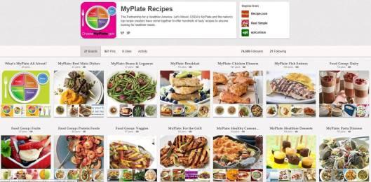 MyPlate Pinterest