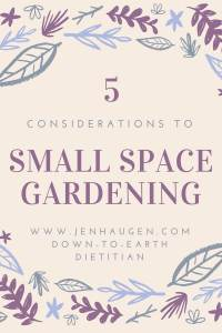 5 Tips to Small Space Gardening