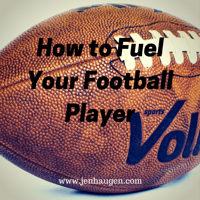 how to feed football player