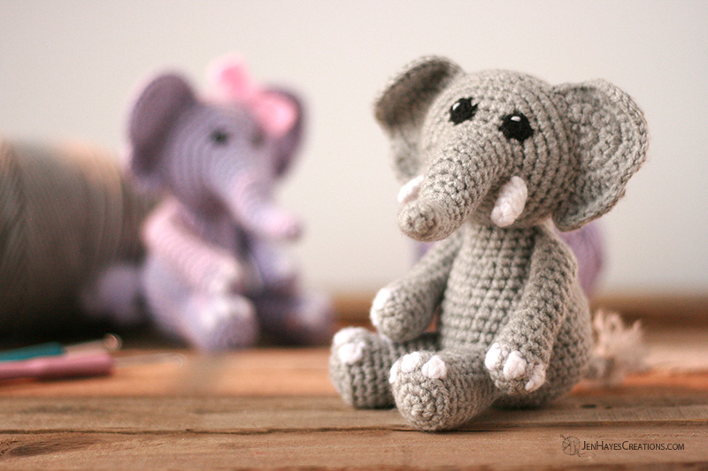Crochet elephant plush stuffed handmade toy with tusks | Etsy | 533x800