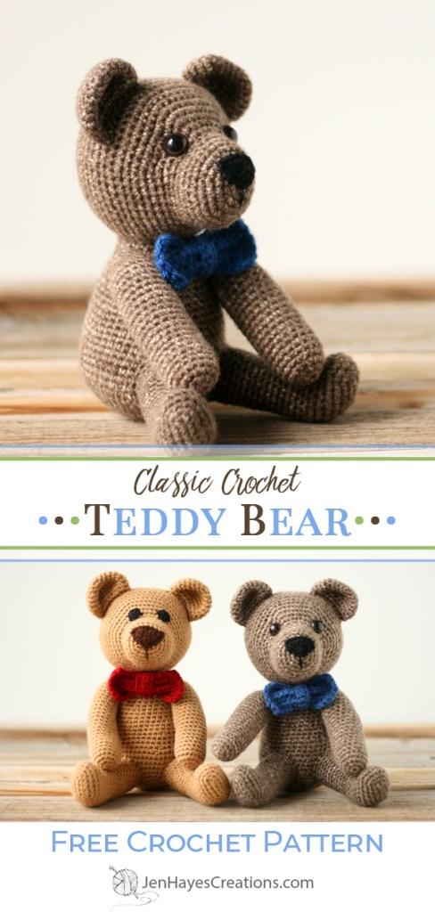 Crochet Teddy pattern Amigurumi pattern Crochet Teddy Bear   Etsy   1024x488