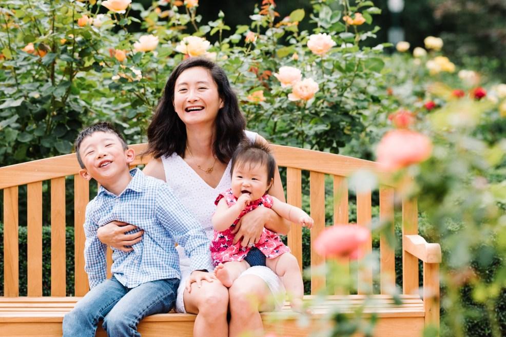 Family photoshoot San Mateo central park