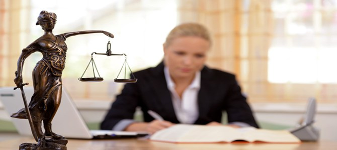 Lawyer at Desk