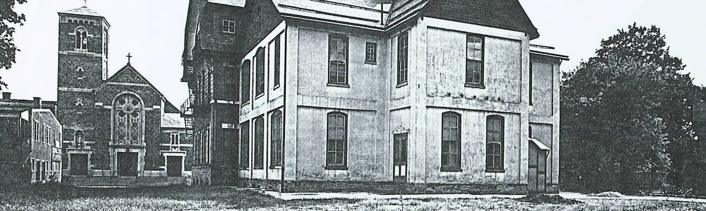 Back of original Jenkintown School Building in 1904
