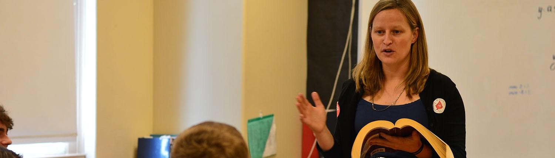 Mrs. Saxman Teaching Calculus