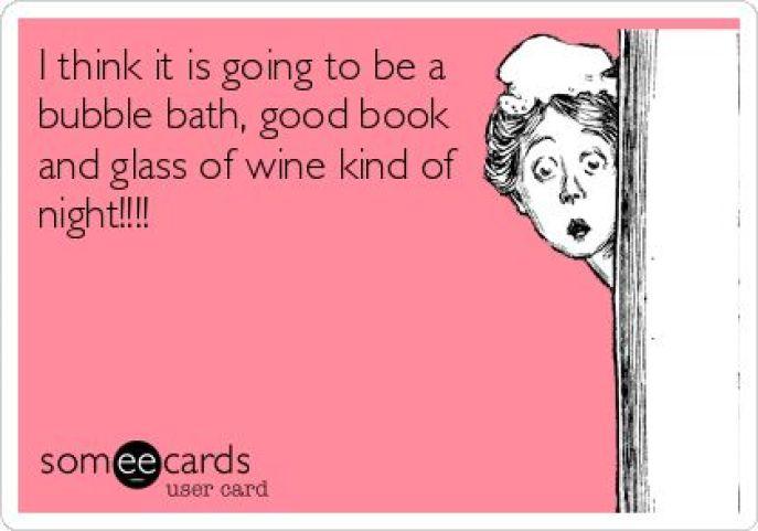 wine book bath