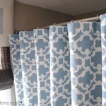 How To Make Any Curtain Into A Shower Curtain Jenna Burger Design Llc