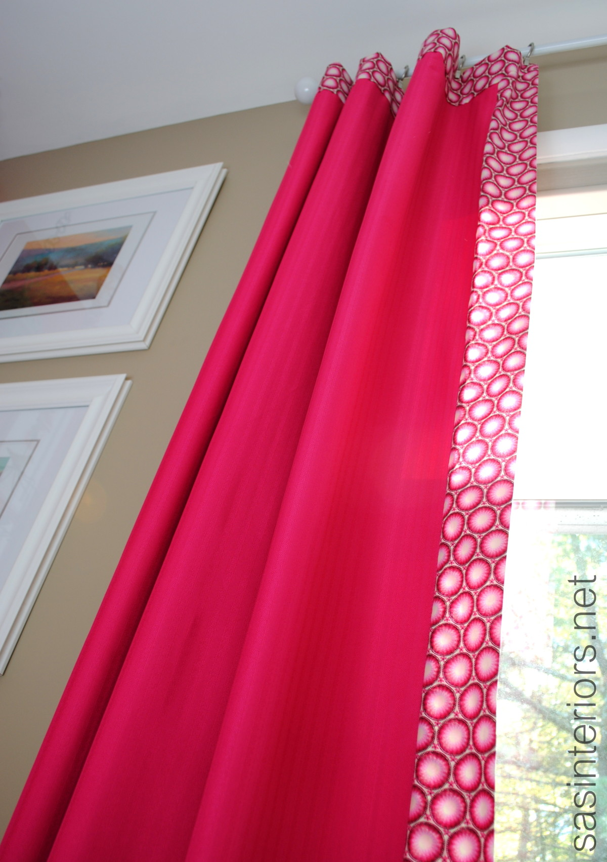 HowTo Add Decorative Trim to Curtains for cheap  Jenna