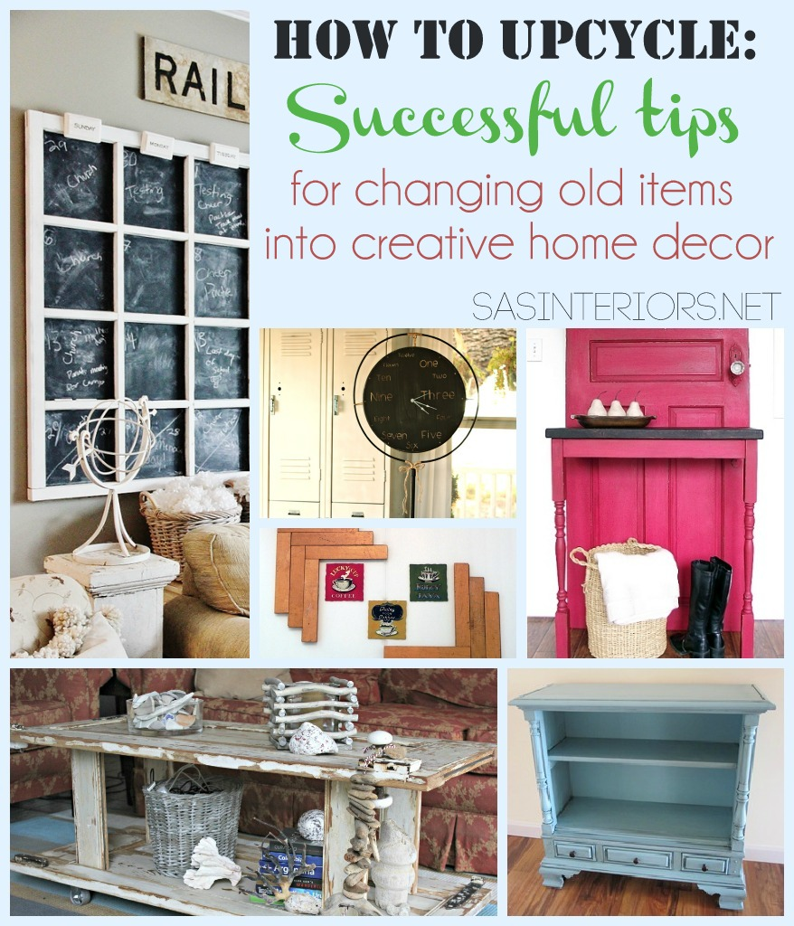 How To Upcycle Successful Tips for Changing Old Items into Creative Home Decor  Jenna Burger