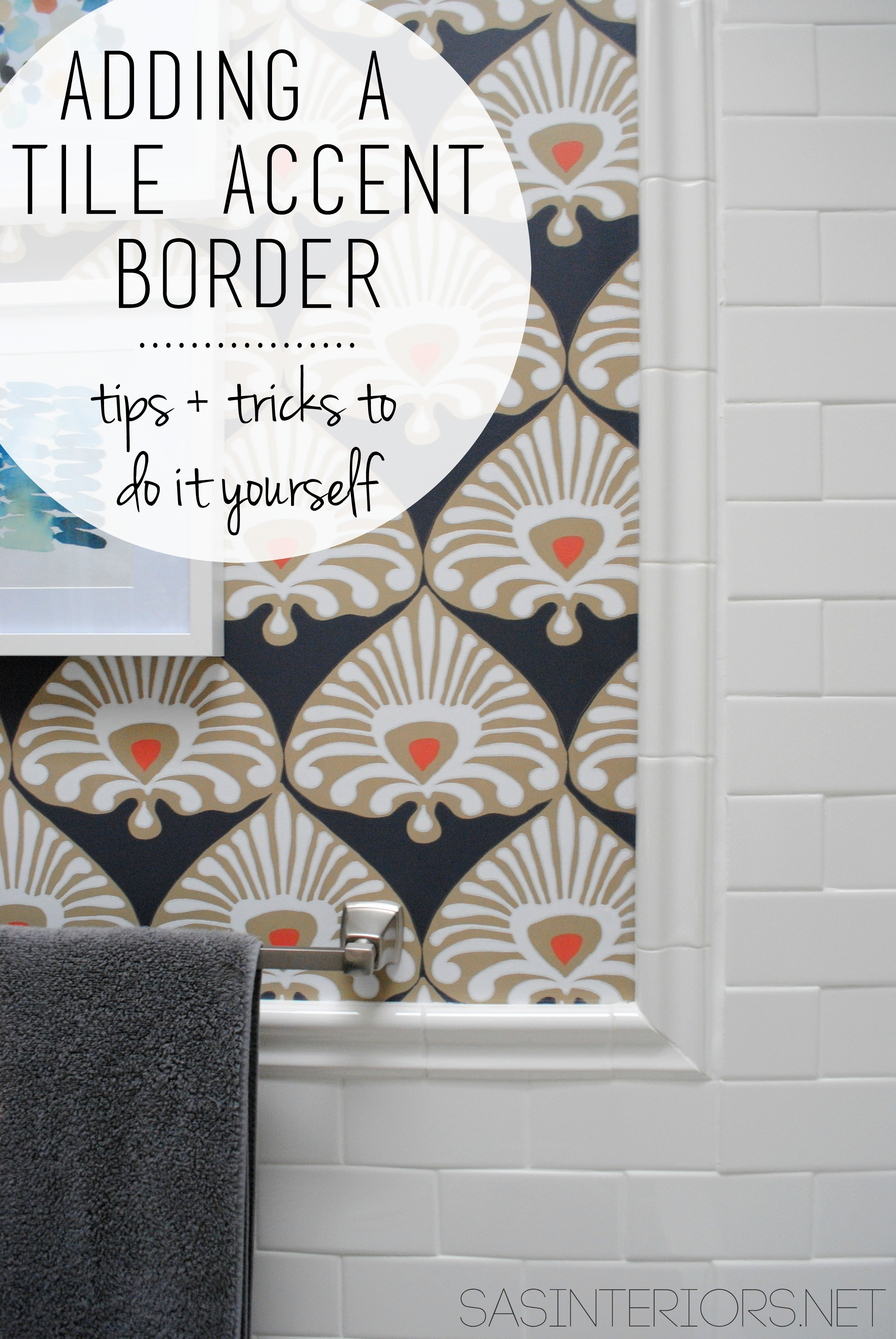 bathroom makeover tile accent border day 18 jenna burger design llc