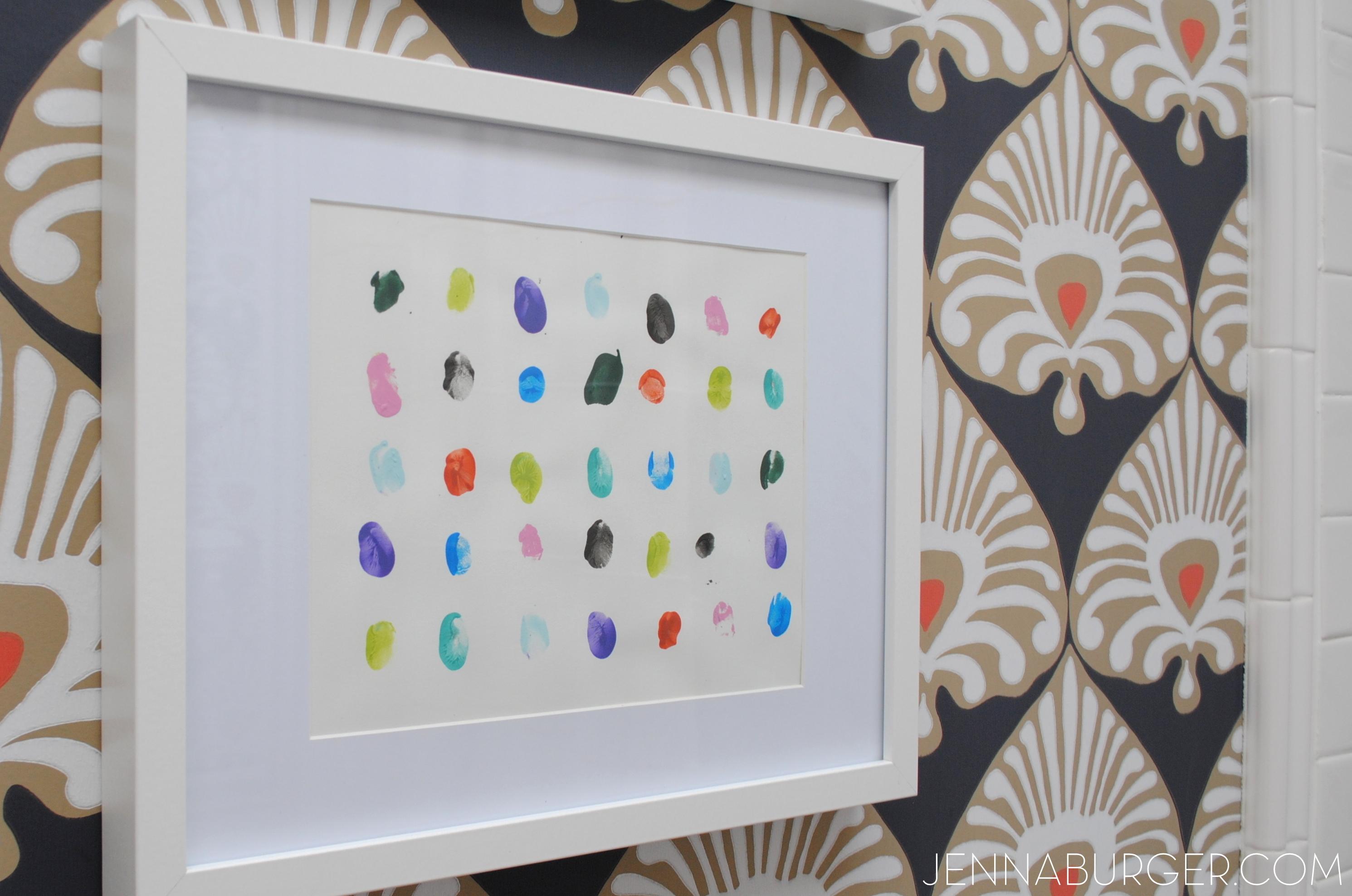 DIY Kids Fingerprint ART Jenna Burger
