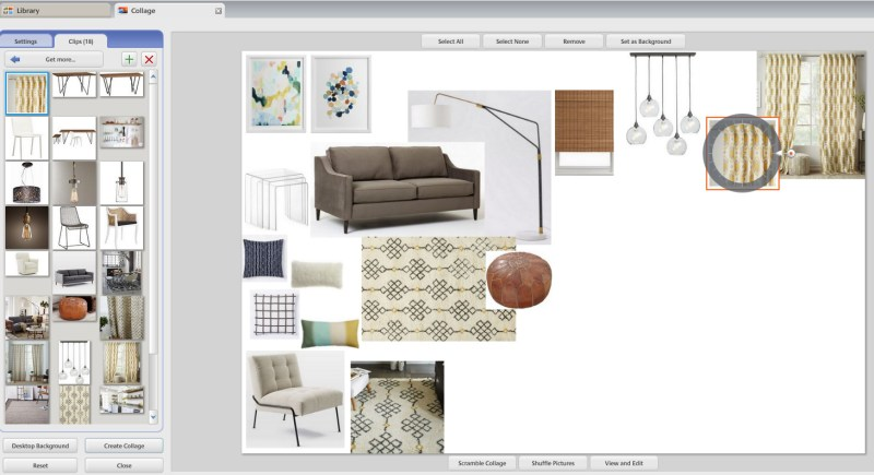 interior design mood board software