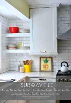 Subway Tile Kitchen Backsplash Installation Jenna Burger Design Llc