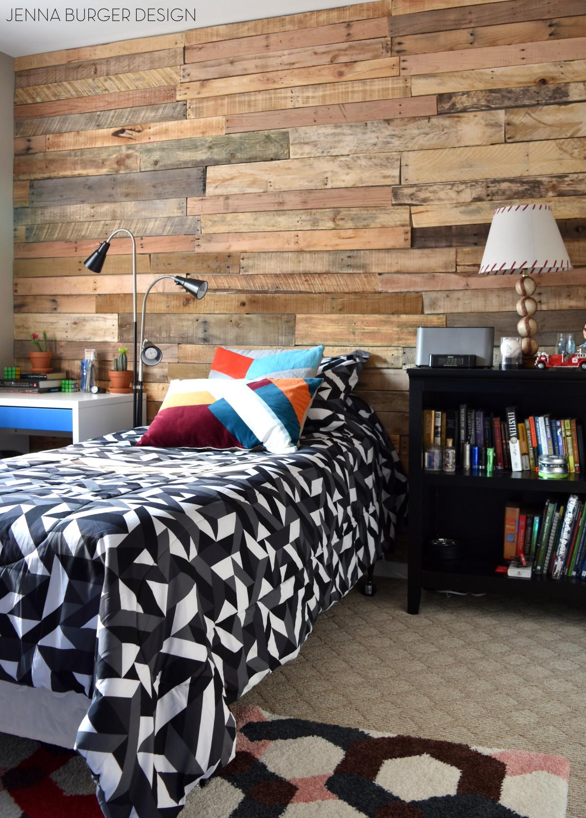 Modern Rustic Teen Room Diy Pallet Wall Tutorial