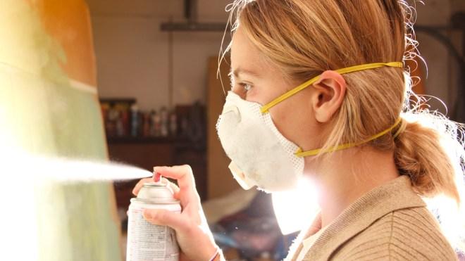Jenna Citrus spray painting