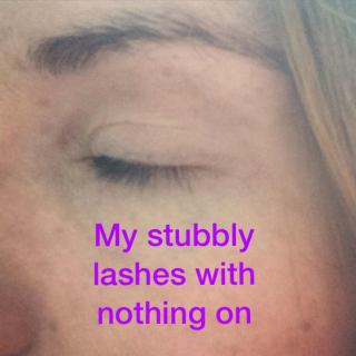 Younique Selfie- Lashes Before