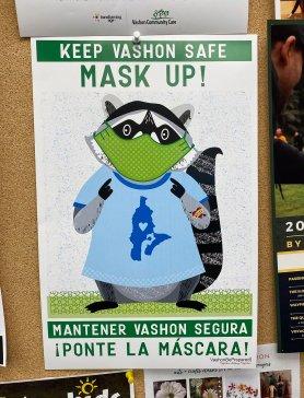 MaskUp Vashon Raccoons poster