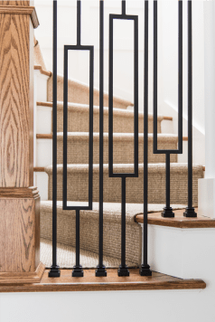 spindles chicago home renovation stair runner design materials inc
