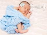 Portrait of newborn baby dreaming
