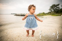 baby girl on beach