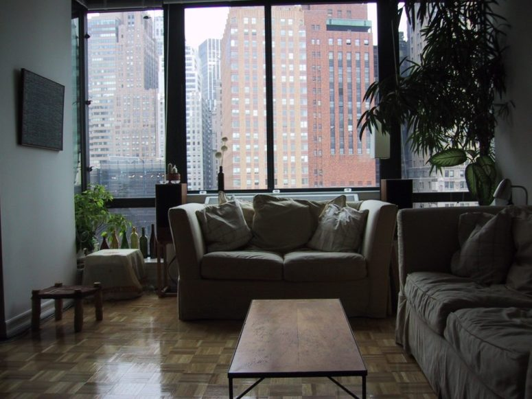 Our apartment after 9/11 on the tip of Manhattan