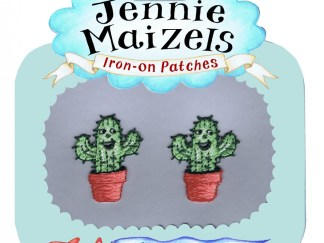 Cactus pair of Iron-on Patches