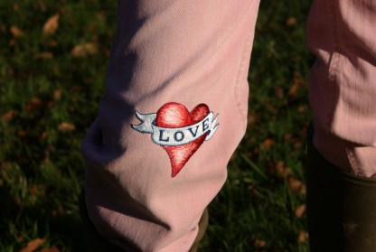 Love Heart Iron-on Patch