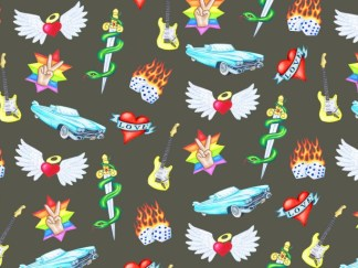 Rock 'n' Roll Wrapping Paper