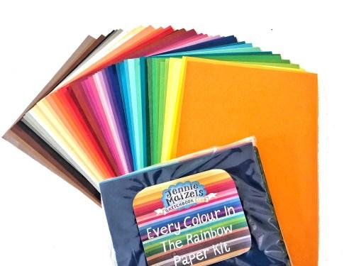 Rainbow Coloured Paper Kit - 2