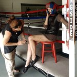 Boxing Make Up behind the scenes