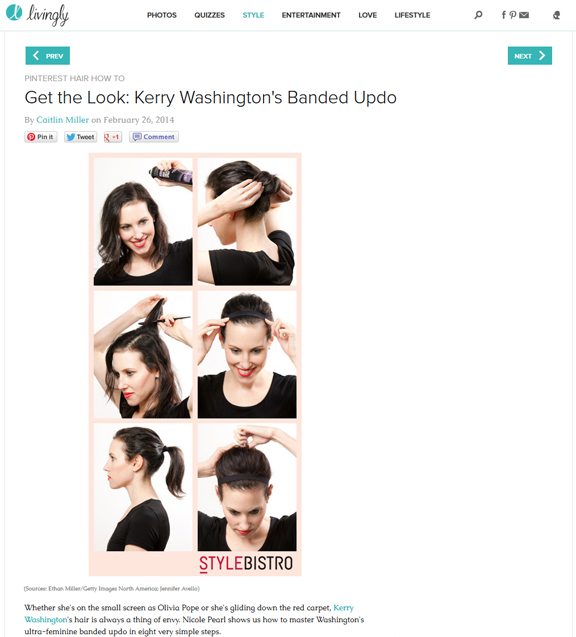 How to tutorial for kerry Washington Hair