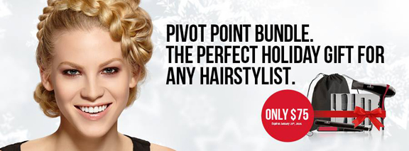 Blonde girl with braids on Pivot Point Ad